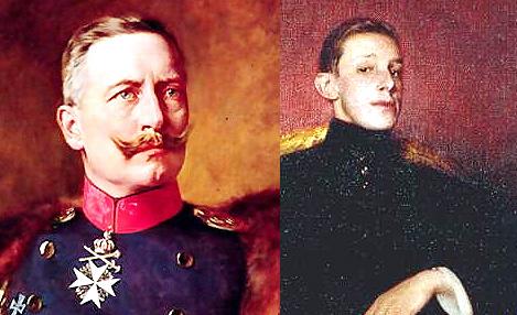 El Kaiser Guillermo II se encuentra con Alfonso XIII en la Ría de Vigo