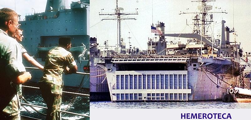 Ocurrió en el año1964   ACCIDENTADA VISITA   DE LA US NAVY AL PUERTO DE VIGO